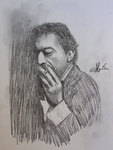Dessin Serge Gainsbourg (crayon HB)